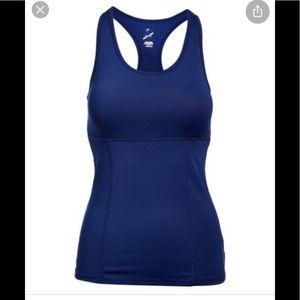 NWT Head activewear racer back bra tank top blue